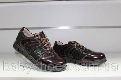 Туфли кожаные для девочки Берегиня 0768 полуботинки, ортопед р-ры 32,33,34