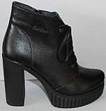 Ботинки демисезонные женские на каблуке от производителя модель НИК236, фото 2
