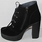 Ботинки демисезонные женские на каблуке от производителя модель НИК236, фото 7