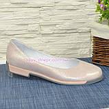 """Туфли женские из натуральной кожи """"сатин"""" розового цвета, фото 2"""