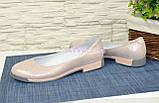 """Туфли женские из натуральной кожи """"сатин"""" розового цвета, фото 3"""