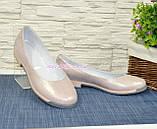 """Туфли женские из натуральной кожи """"сатин"""" розового цвета, фото 4"""