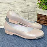 """Туфли женские из натуральной кожи """"сатин"""" розового цвета, фото 5"""