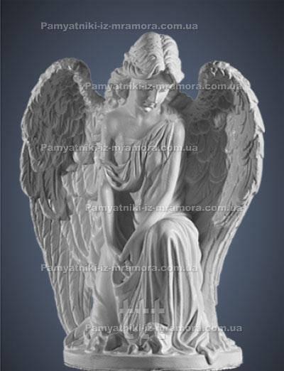 Скорбящий Ангел из мрамора № 5
