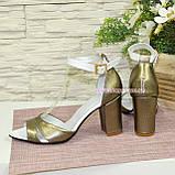 Босоножки женские на высоком устойчивом каблуке, фото 5