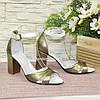 Босоножки женские на высоком устойчивом каблуке, фото 2