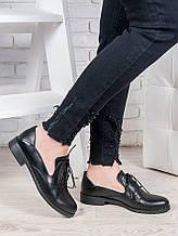 Жіночі чорні туфлі шкіряні Адріана 6851-28