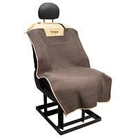 Накидка на переднее сиденье Bergan Deluxe Microfiber Auto Bucket Seat Protector (для перевозки собак в автомобиле), 127*71 см, бежевый