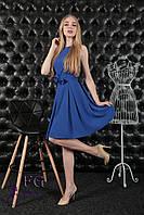 Летнее женское платье приталенное от 42- 48 размера и в цветах