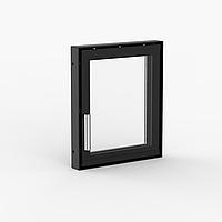 Дверца для камина 300×350 мм серийная / стекло деко