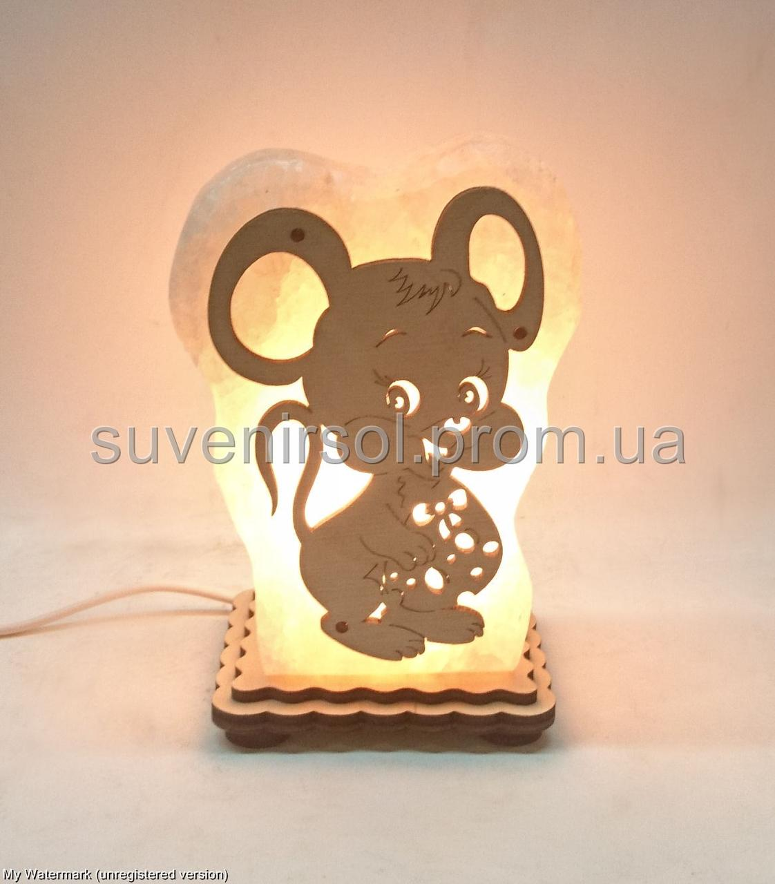 Соляная лампа Мышь с сыром