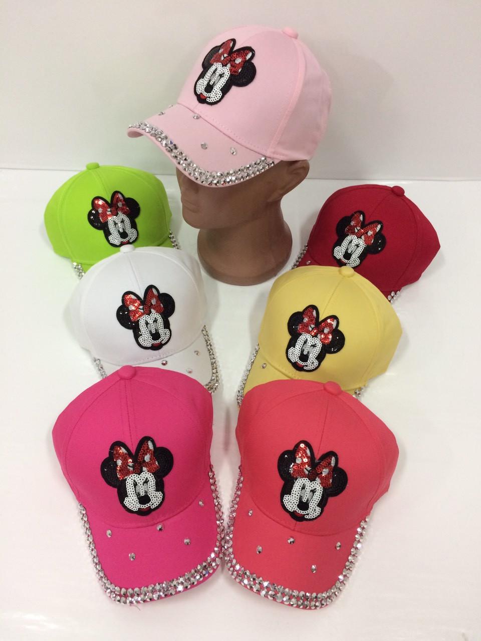 Детские бейсболки Mickey Mouse для девочек оптом, р.50, Китай