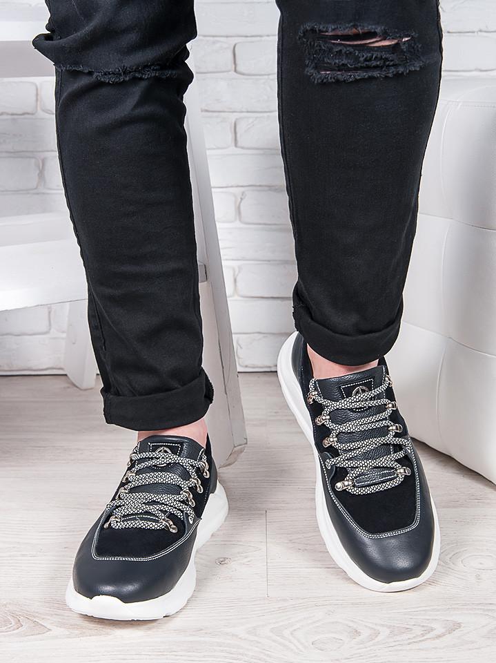 Мужские кожаные кроссовки 6902-28