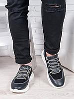 Мужские кожаные кроссовки 6902-28, фото 1