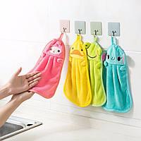 Детское полотенце для лица и рук (голубой слоник), фото 1