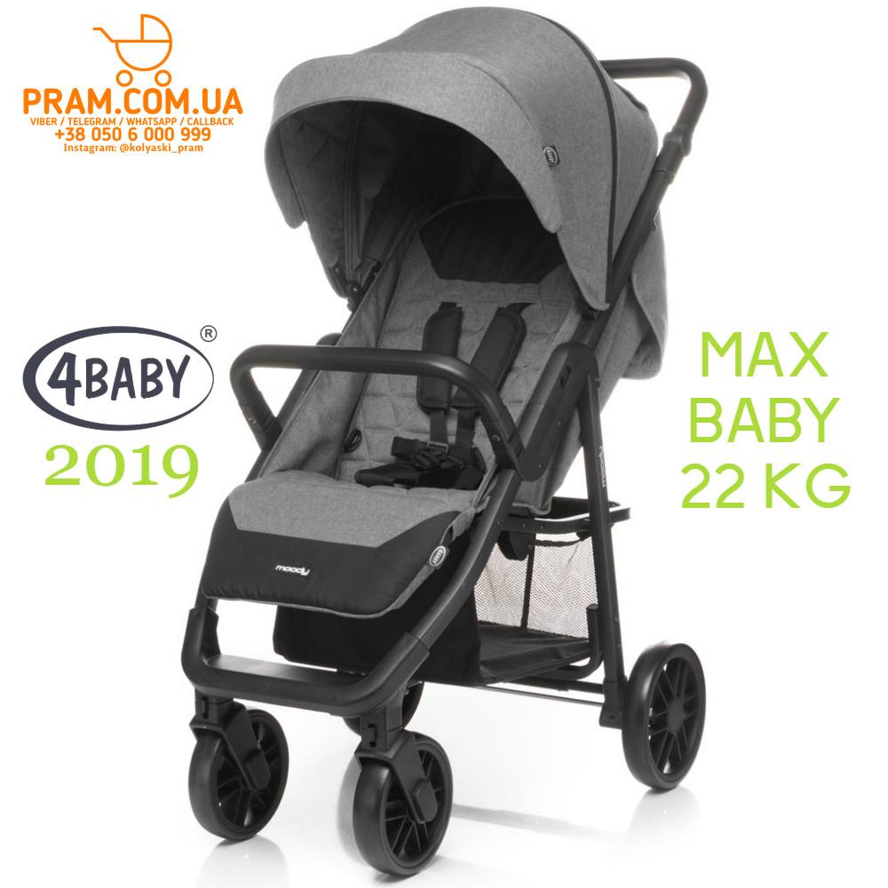 4BABY Moody 2019 прогулочная коляска Grey Серый