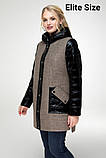 Демисезонное пальто весна-осень большого размера р. 48-54 , фото 6