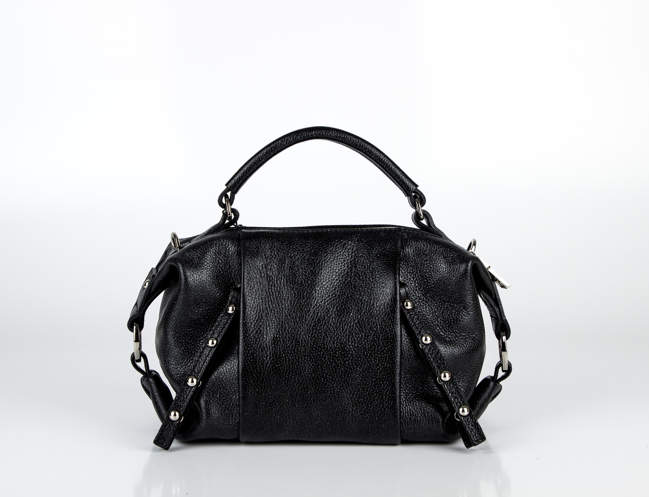 8175b23bc253 Сумка женская Assa 1195м кожаная черная, цена 2 199 грн., купить в ...