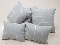 Комплект подушек  серые Полосы абстракция ,5шт