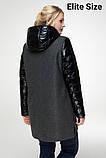 Демисезонное пальто весна-осень большого размера р. 48-54 , фото 4