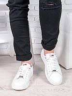 Мужские белые кожаные кеды 6906-28, фото 1
