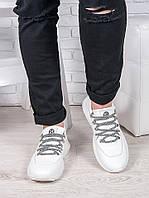 Мужские  белые кожаные кроссовки 6908-28, фото 1