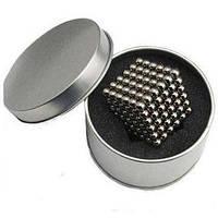 Конструктор неокуб 216 магнитных шариков 5 мм (никель), игрушка головоломка Neocube в боксе, подарок