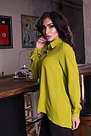 ЖІноче блуза на гудзики видовжена ззаду Р-ри 42-48