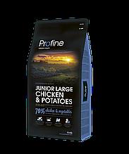Profine Dog Junior Large Breed 15kg  корм с курицей и картофелем для щенков