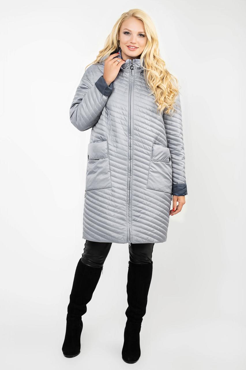 7fac213ca92b Плащ женский демисезонный большие размеры(48-60)серый: продажа, цена ...
