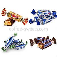 Конфеты шоколадные Ассорти (Bounty, Twix, Snickers Miniatures)