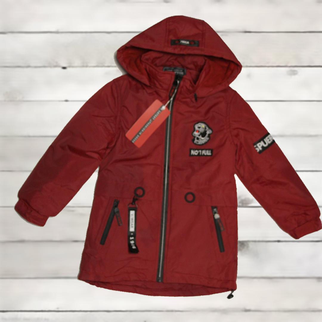 Куртка-парка демисезонная Grace для мальчика от 3-х до 6 лет красная