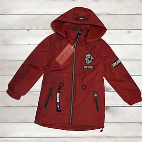 Куртка-парка демисезонная Grace для мальчика от 3-х до 6 лет красная, фото 2