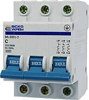 Автоматические выключатели АСКОУКРЕМ серии ВА-2001 3p С63A