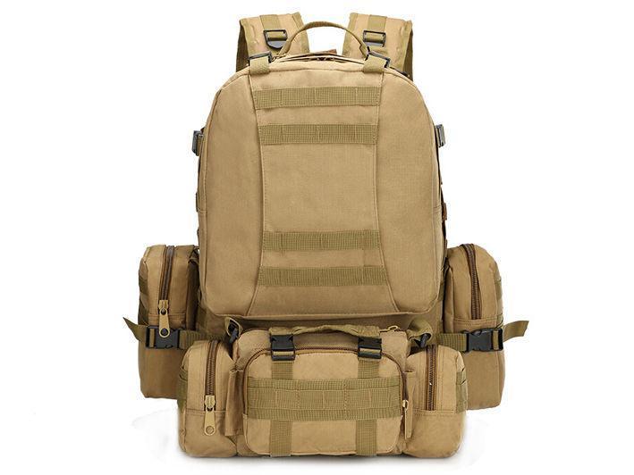 Тактический рюкзак на 50 литров с подсумками.