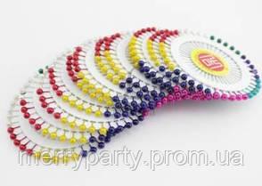 Булавки декоративные цветные 40 шт./наб. (длина 3,5 см) 1 наб.