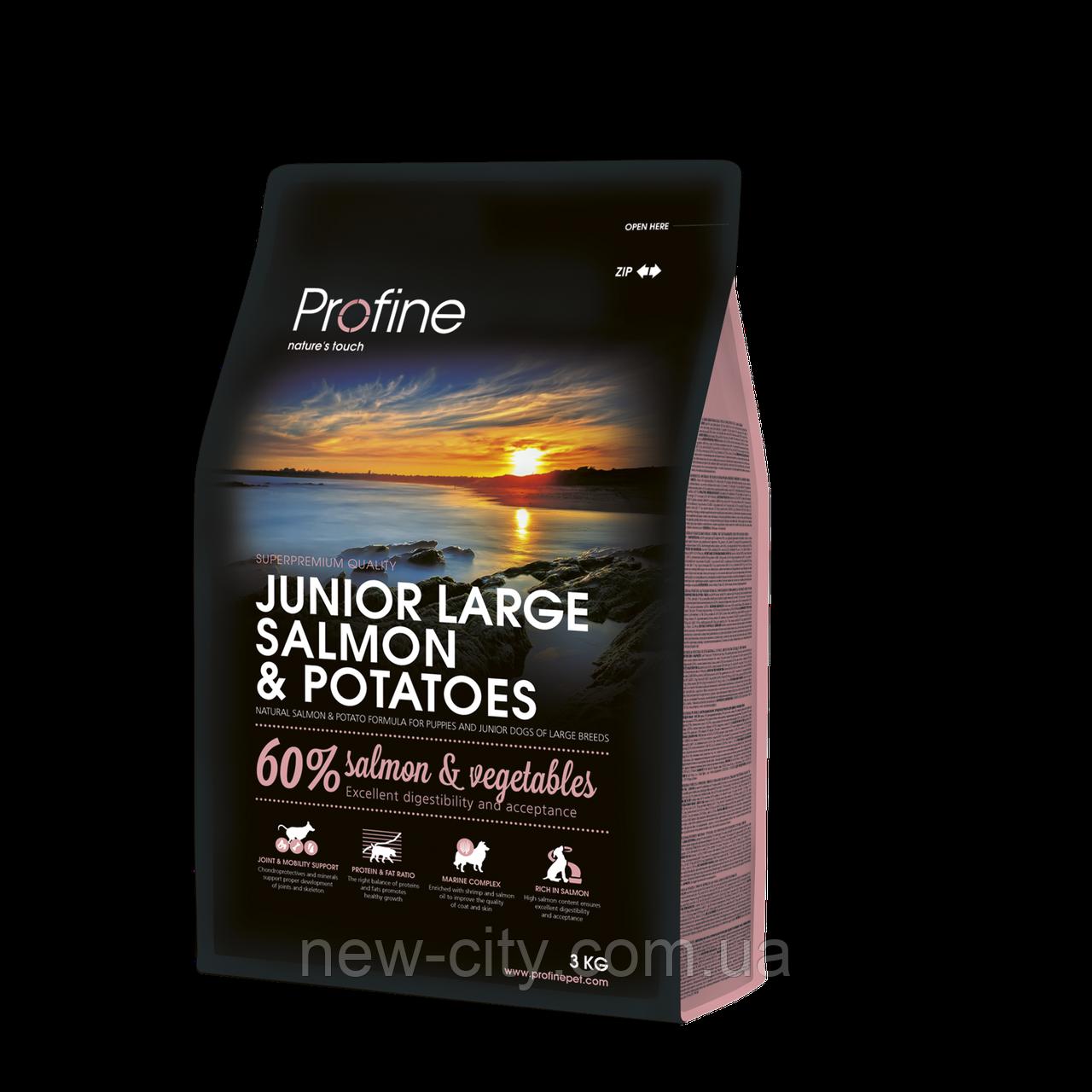 Profine JUNIOR LARGE SALMON & POTATOES 15kg Лосось и картофель для молодых собак больших пород