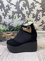 Женские туфли на платформе ЗАМШ