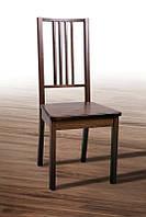Стул деревянный Классик с твердым сиденьем 1000 х 450 х 440, цвет темный орех