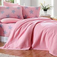 Летнее постельное белье Eponj Home Pike BigStar pembe полуторное, фото 1
