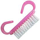 Щетка для Ногтей Малая из Искусственного Ворса Розового Плотного Пластика, фото 6