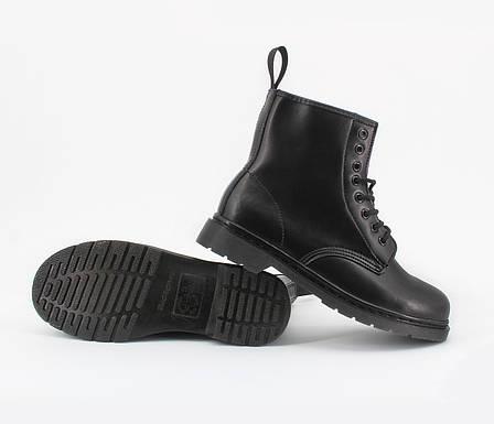 Женские ботинки в стиле Dr. Martens Original 1460 Mono Black c 8 парами люверсов, фото 2