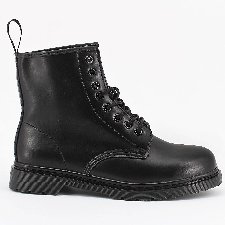 b1106215 Женские ботинки в стиле Dr. Martens Original 1460 Mono Black c 8 парами  люверсов -