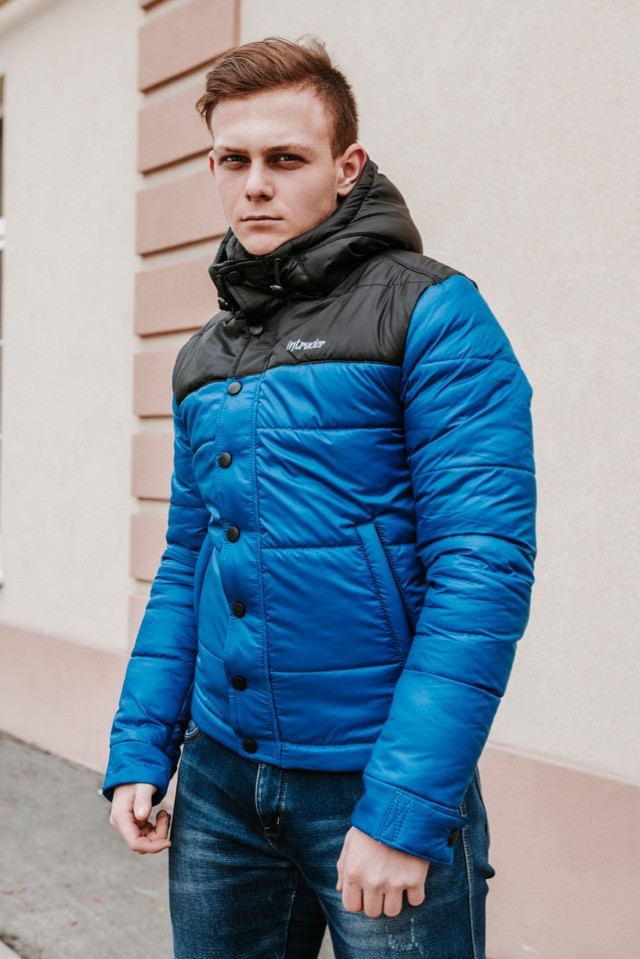 "Курточка утепленная весенняя/осенняя мужская Intruder ""Brave Soul"", цвет черно-синий, фото 1"
