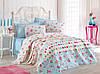 Летнее постельное белье Eponj Home Pike Pinball mavi евро