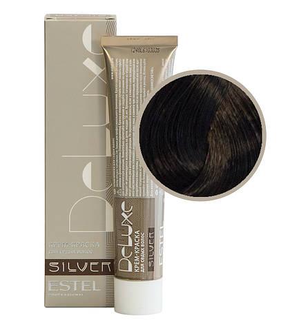 4/0 Крем-краска Estel DeLuxe Silver шатен, фото 2