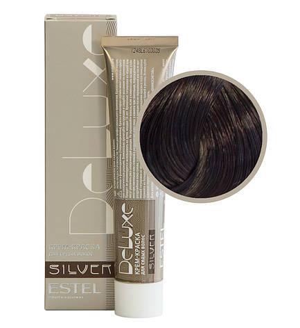 4/56 Крем-краска Estel DeLuxe Silver шатен красно-фиолетовый, фото 2