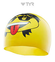 Силиконовая шапочка для плавания TYR Rocker (Yllow), фото 1