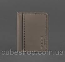 Кожаная обложка для прав или id-паспорта 4.0 (темно-бежевая)