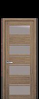 Межкомнатные двери Новый стиль Элиза  со стеклом сатин дуб медовый